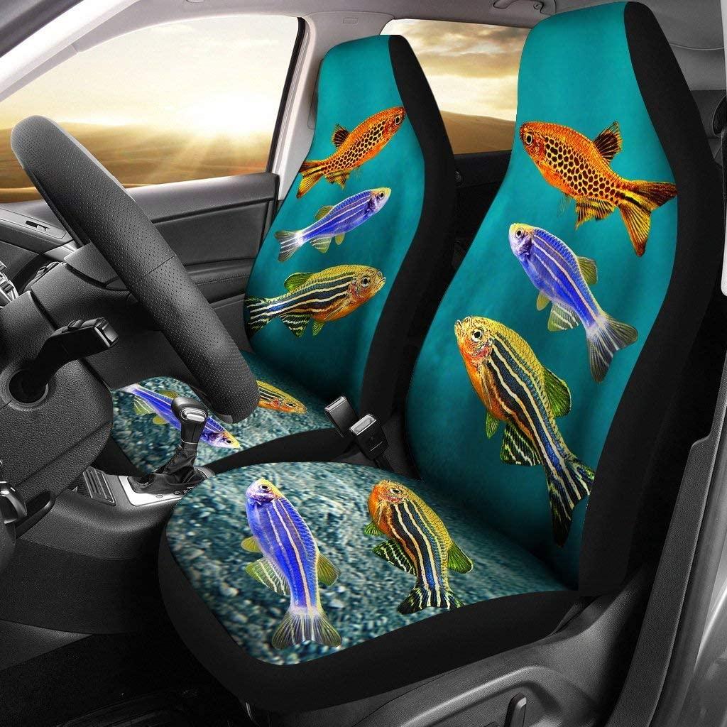 Pawlion Slender Danios Fish Print Car Seat Covers