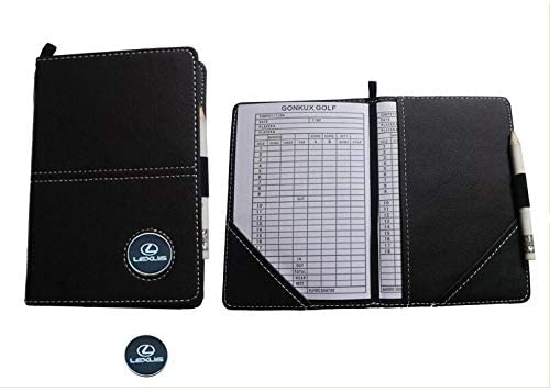 Golf scorecard Holder, Golf Score Card Holder, Golf Yardage Book with Pencil Ball Marker and Record Sheet