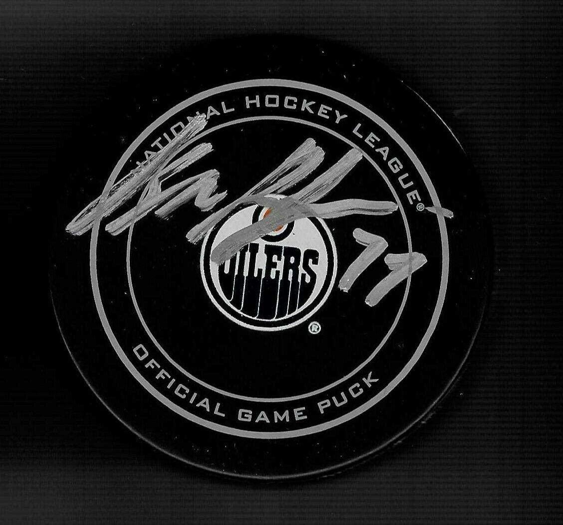 Oscar Klefbom Signed Puck - NHL 100 Official - Autographed NHL Pucks