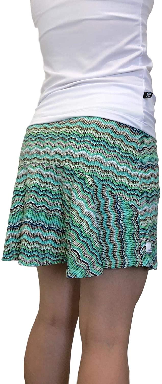 Smash Dandy Knit Printed Flutter Style Golf/Tennis Skort/Skirt