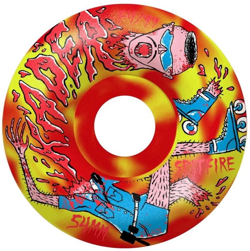 Spitfire Wheels F4 99 Kader Neckface Red/Yellow Swirl 54mm