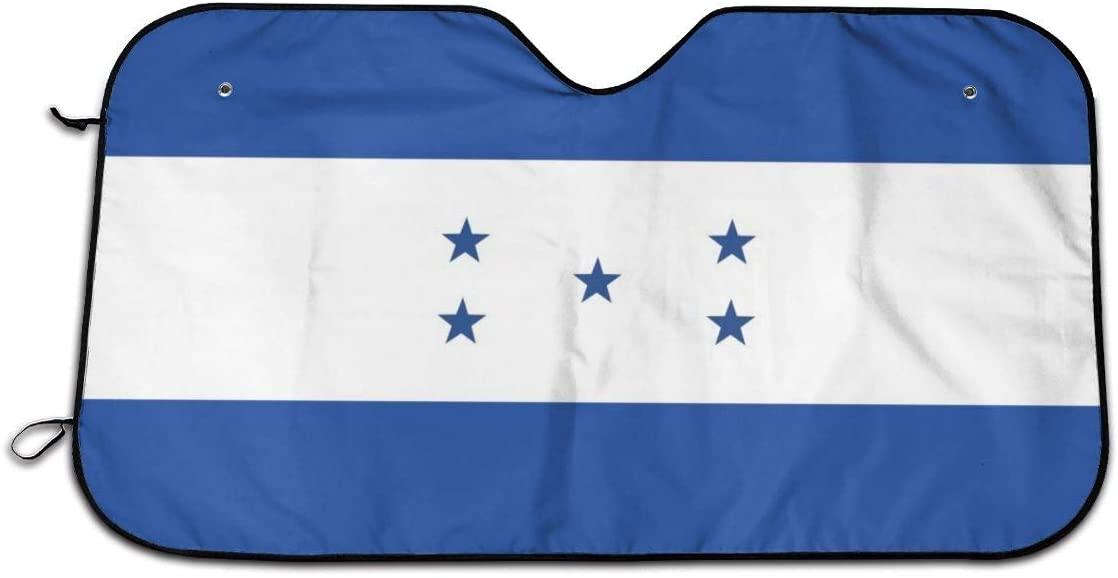 XTing Flag of Honduras Windshield Sun Shade Blocks UV Rays Sunshade Shield Sun Visor Protector Keeps Vehicle Cool for Car Truck SUV