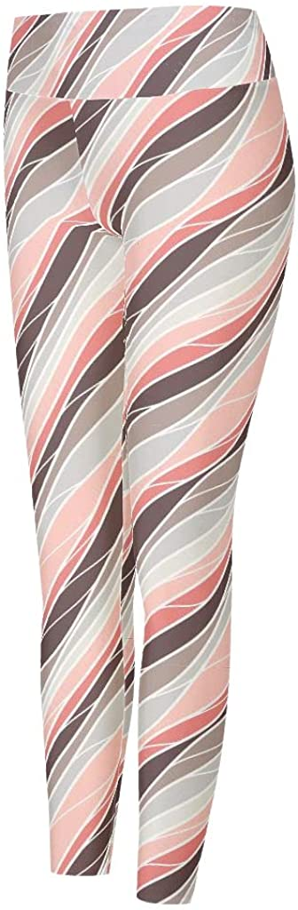 Women's Printed Leggings Full-Length Yoga Pants Stretchy Tight Pants Capris Tights for Sports