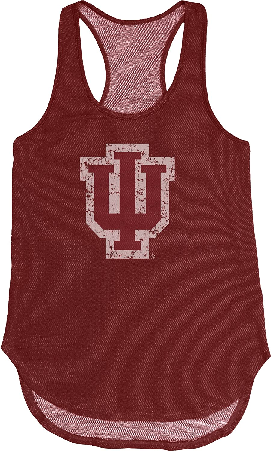Blue 84 NCAA Indiana Hoosiers Adult Women NCAA Women's Tri Blend Panel Tank,Medium,Cardinal