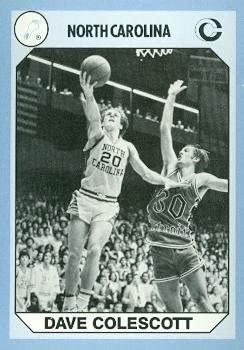 Dave Colescott Basketball Card (North Carolina) 1990 Collegiate Collection #142