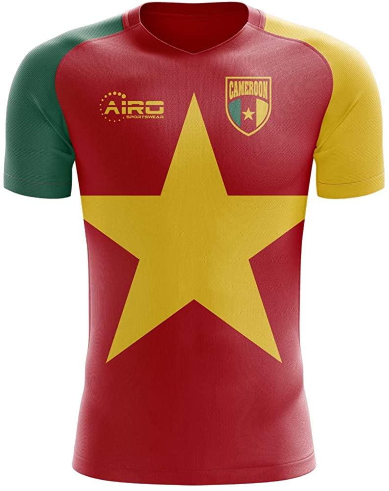 Airosportswear 2020-2021 Cameroon Flag Concept Football Soccer T-Shirt Jersey - Womens