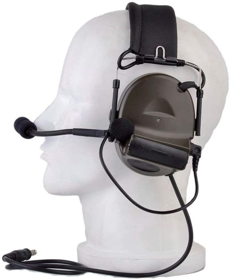 The Mercenary Company Closed-Ear Electronic Hearing Protection Earmuffs & Communication Headset