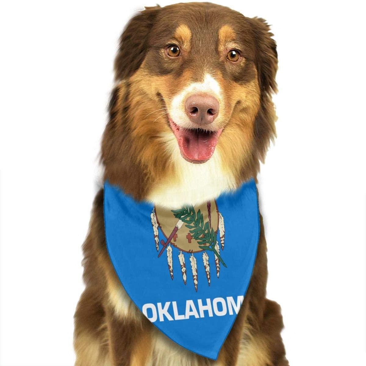 Fengyaojianzhu Flag of Oklahoma Dog Bandana Collars Triangle Neckerchief Bibs Scarfs Accessories Pet Cats and Baby Puppies Saliva Towel