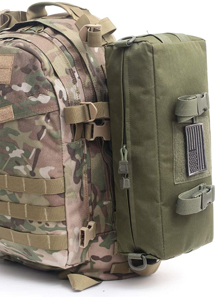 LIVIQILY Tactical Molle Pouch Multi-Purpose Large Capacity Waist Pack for Outdoor Camping Hiking