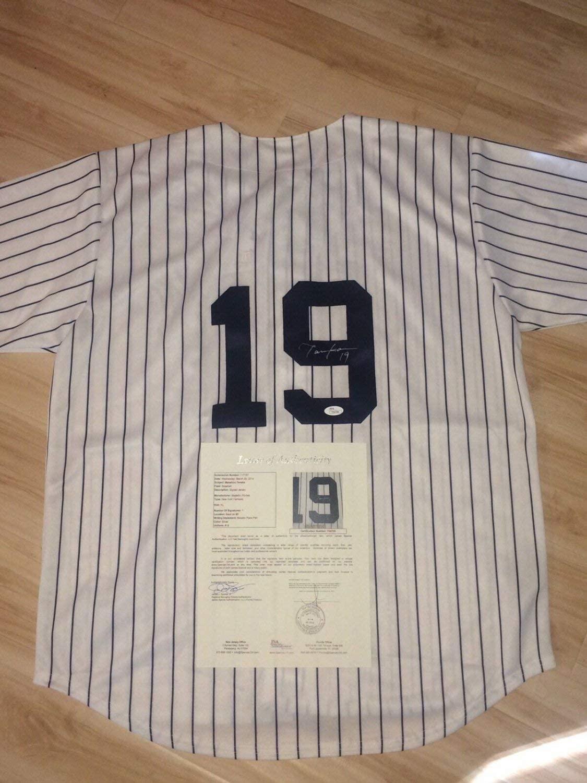 Authentic Autographed Masahiro Tanaka Hand New York Yankees Jersey JSA Cert