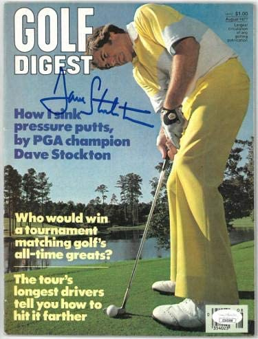 Dave Stockton signed Golf Digest Full Magazine August 1977- #EE60288 (PGA Champion/no label) - JSA Certified