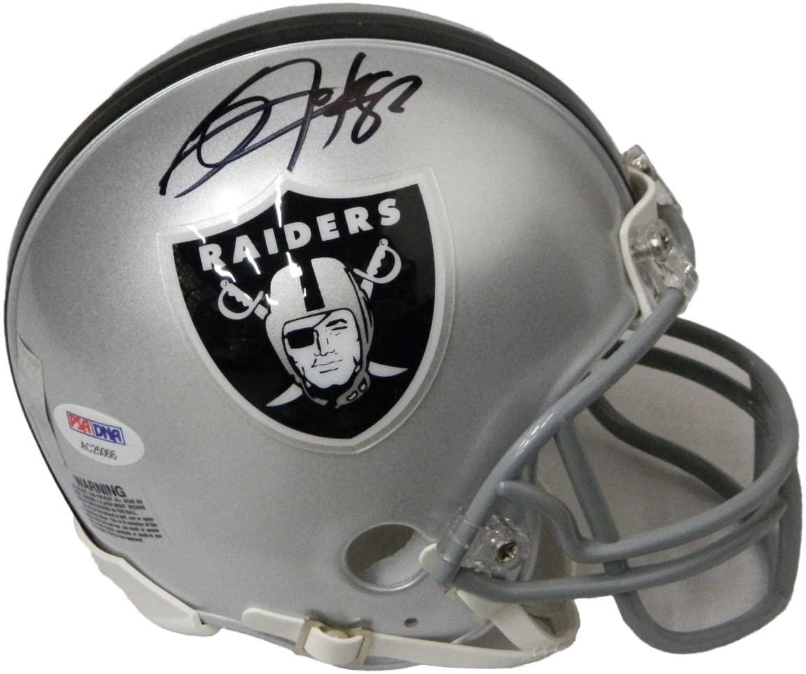 Bo Jackson Autographed Oakland Raiders Mini Helmet - PSA/DNA
