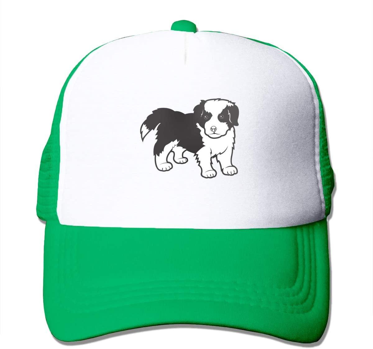 Adult Trucker Hat Border Collie Custom Mesh Caps
