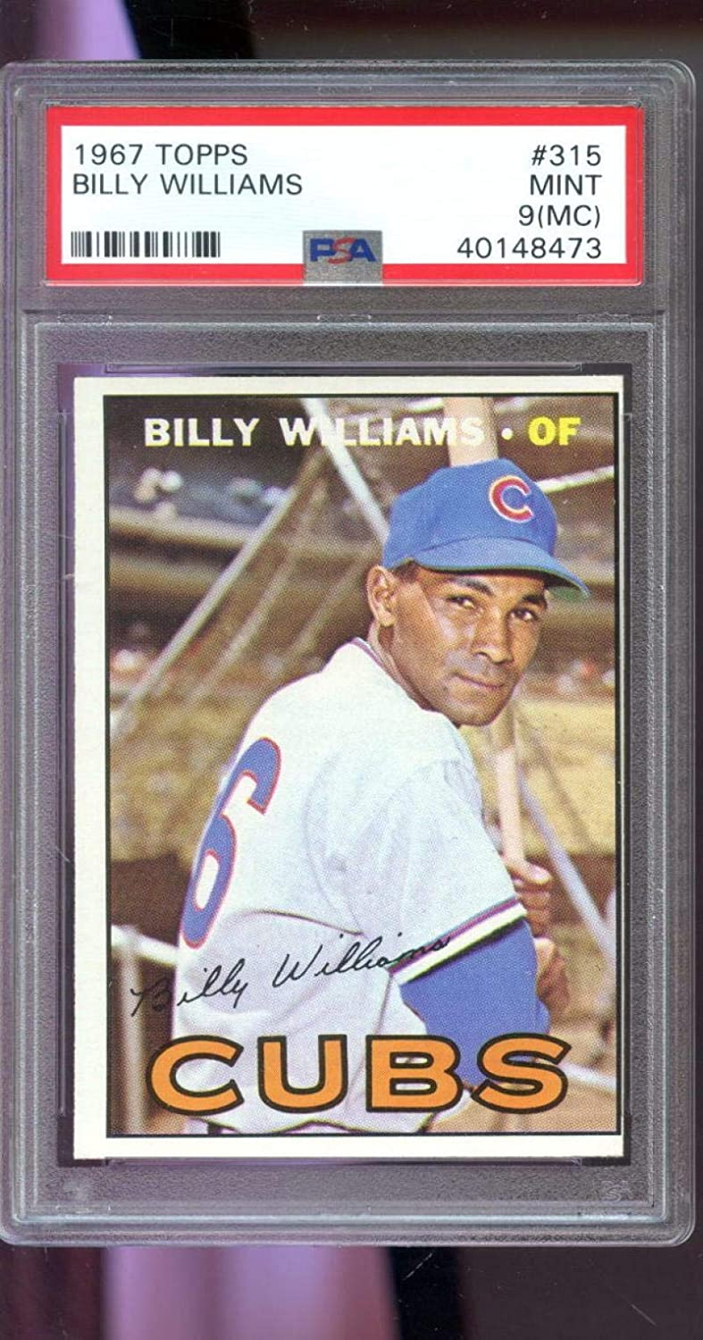 1967 Topps #315 Billy Williams Chicago Cubs MINT 9 (MC) Graded Baseball Card - PSA/DNA Certified - Slabbed Baseball Cards