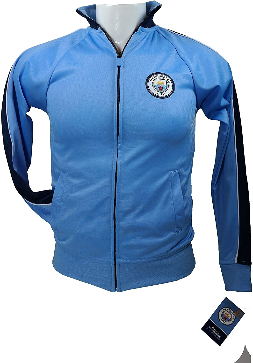 Manchester City Official License Soccer Track Jacket Football Youth Size 03 Small