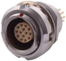 Circular Connector, Quik-LOQ Series, Panel Mount Receptacle, 4 Contacts, PCB Socket, Push-Pull