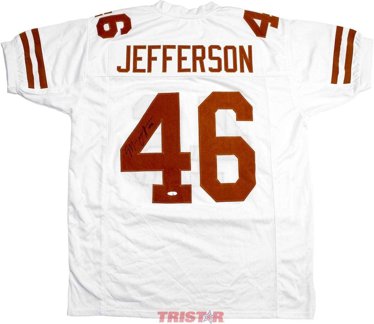 Malik Jefferson Autographed Jersey - Custom White - Autographed College Jerseys