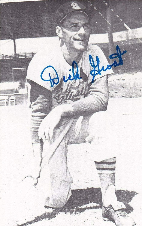 DICK GROAT ST. LOUIS CARDINALS SIGNED POSTCARD 3 1/2x5 - MLB Cut Signatures