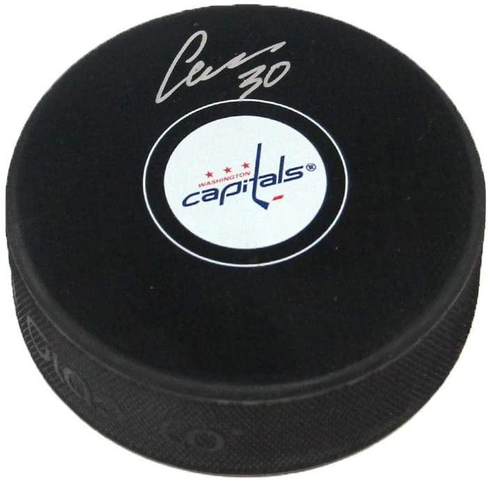 Autographed Ilya Samsonov Hockey Puck - Autographed NHL Pucks