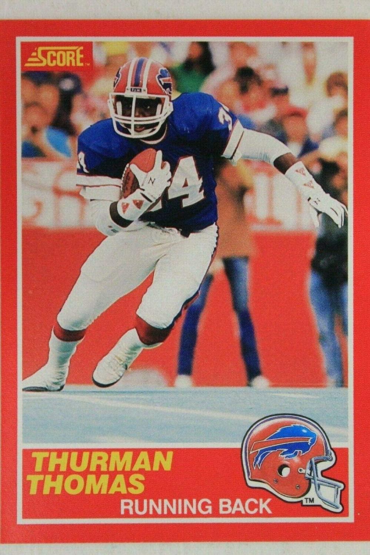 Thurman Thomas Bills OSU 1989 Score Rookie Card #327 HOF RC - Unsigned Football Cards