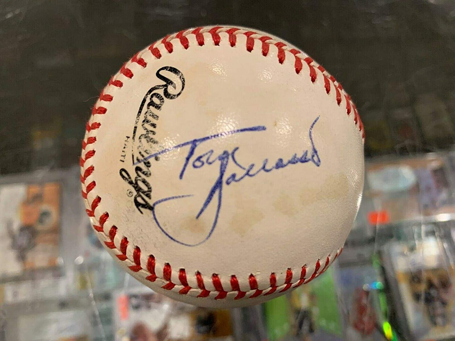 Tom Barrasso Pittsburgh Penguins Single Signed Official Baseball - JSA Certified - NHL Autographed Miscellaneous Items