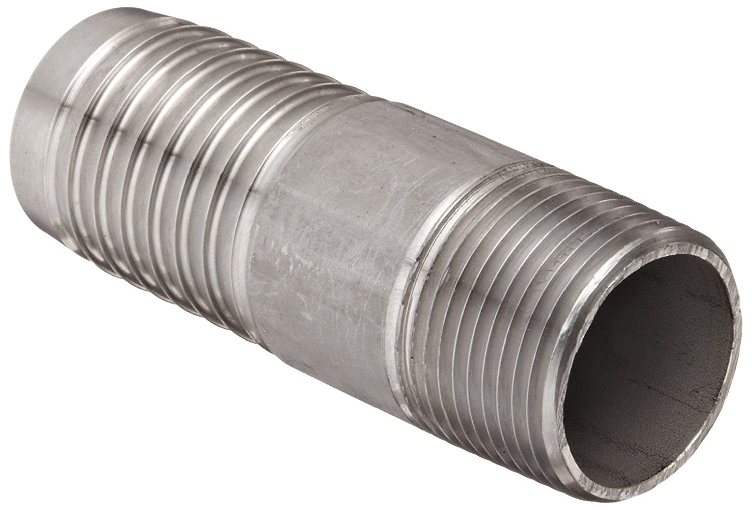 Dixon RST1510 Stainless Steel 316 Hose Fitting, Jump Size King Combination Nipple, 1 NPT Male x 1-1/4 Hose ID Barbed