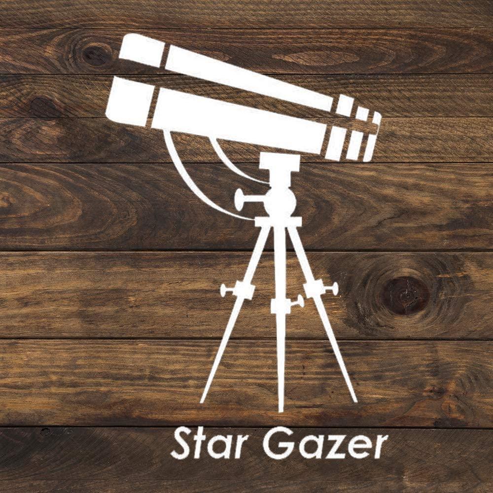 N/ A Star Gazer Astronomy Vinyl Sticker Graphic Bumper Tumbler Decal for Vehicles Car Truck Windows Laptop MacBook Phone Wall Door
