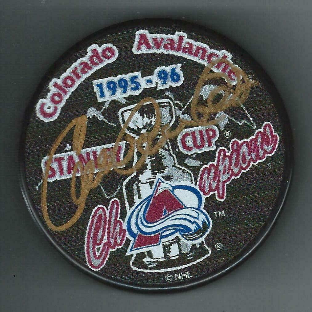 Claude Lemieux Autographed Hockey Puck - 1996 Stanley Cup Champions - Autographed NHL Pucks