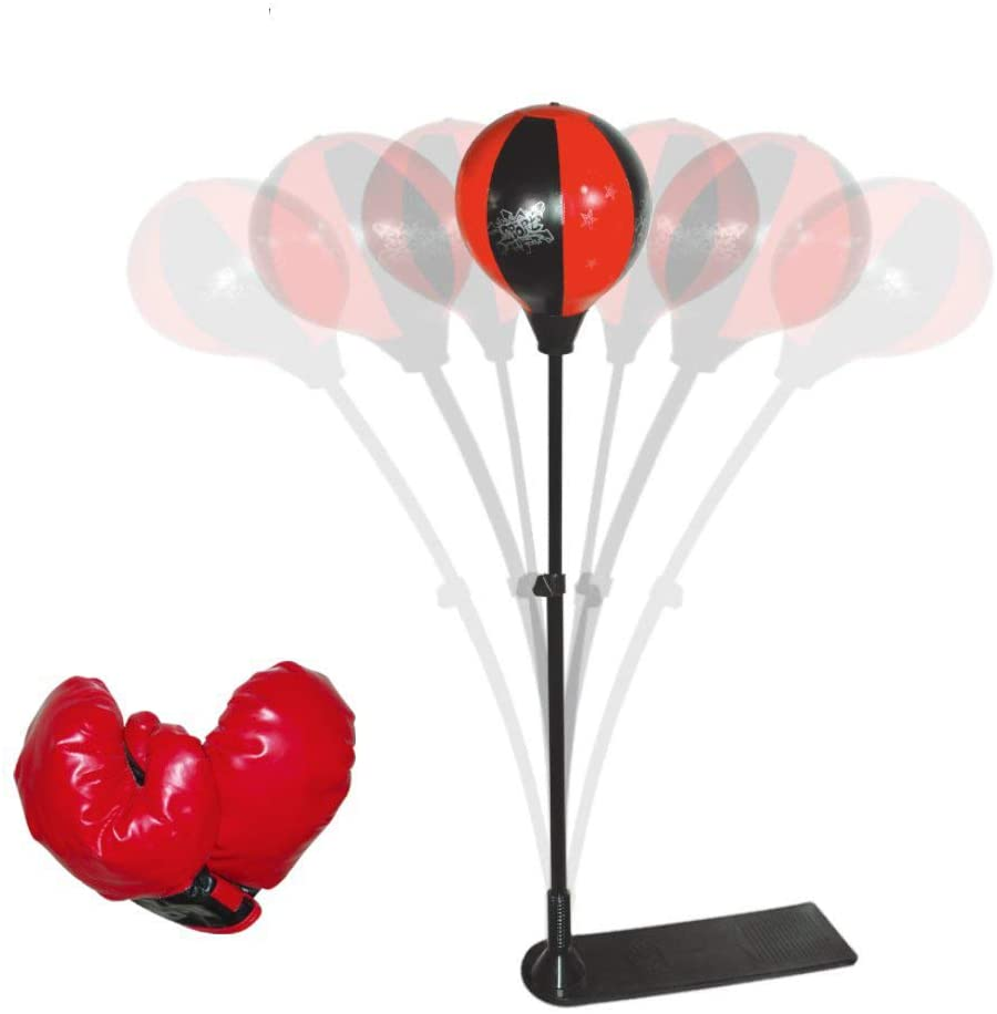 YSGO Punching Bag Set with Stand and Boxing Gloves Speed Ball Adjustable Boxing Set with 1 Pair Gloves and Hand Air Pump for Anti-Stress Fitness for Kids, 777-779