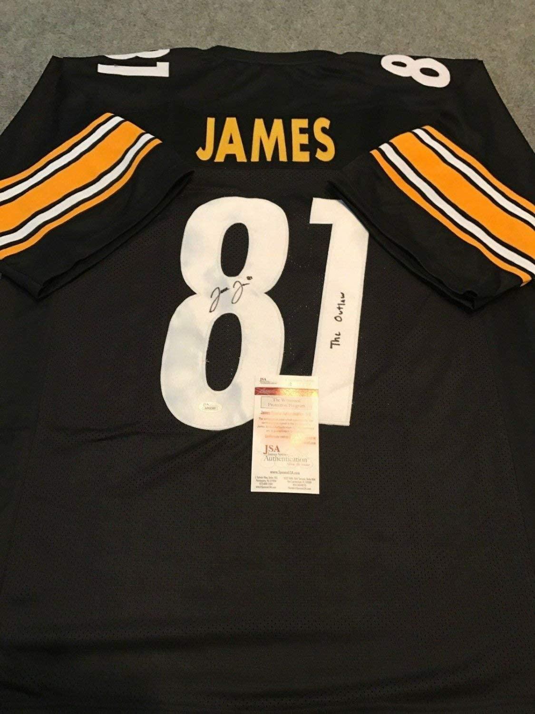 Jesse James Autographed Signed Signed Inscribed Pittsburgh Steelers Jersey JSA COA