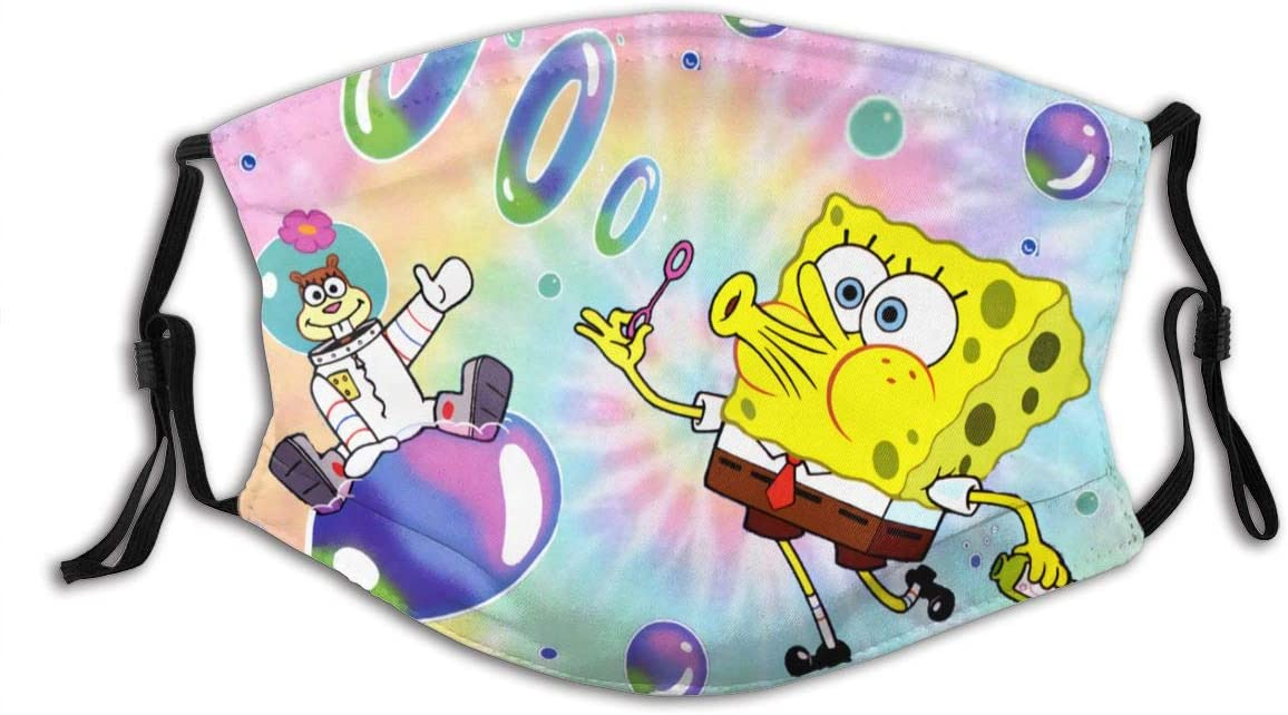 N/N Spongebob Squarepants Dust Reusable Washable Filter and Reusable Mouth Windproof Warm Cotton Face
