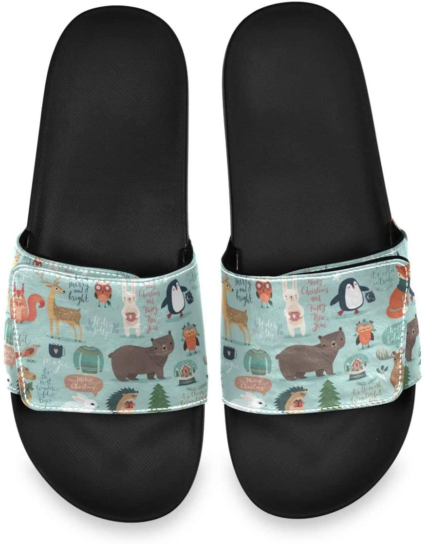 All agree Christmas Suit Animal Elements Mens Summer Sandals Slide House Adjustable Slippers Comfy Boys