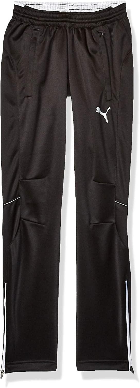 PUMA Men's Training Pant, Black/White, YL