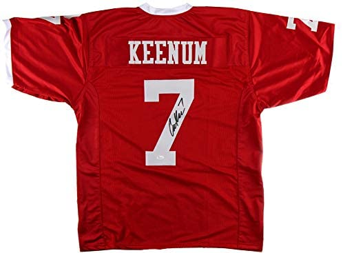 Case Keenum Autographed/Signed Houston Red Custom Football Jersey