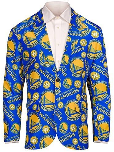 FOCO NBA Golden State Warriors Men's Repeat Ugly Business Jacket