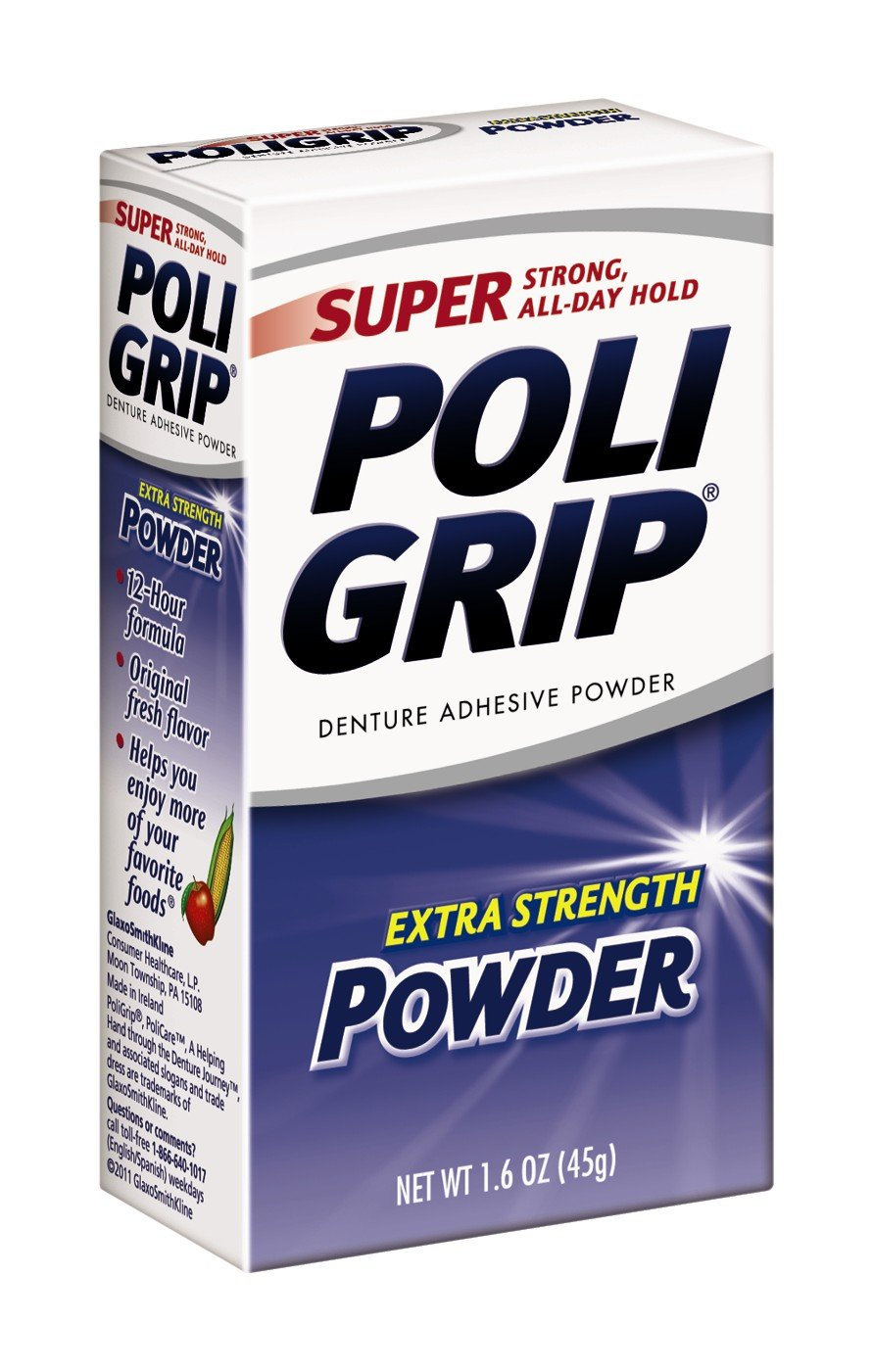 Super Poli-Grip 07801 Denture Powder (Pack of 6)
