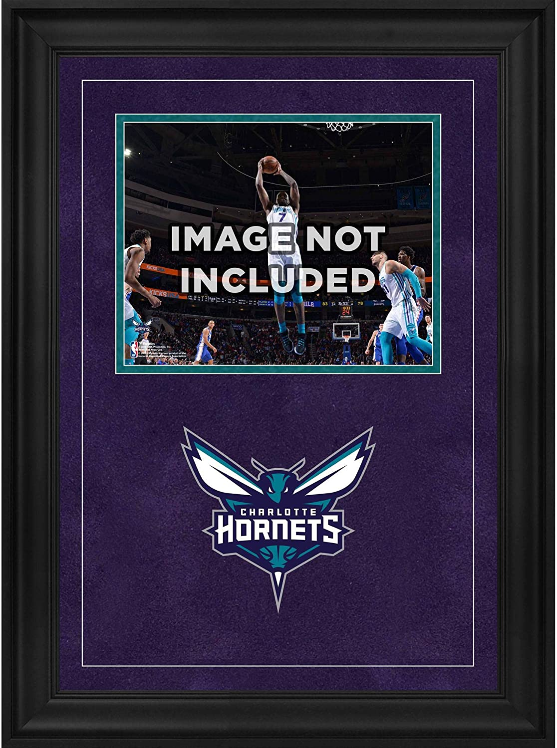 Fanatics Authentic NBA Charlotte Hornets Charlotte Hornets Deluxe 8 x 10 Horizontal Photograph Frame with Team Logo