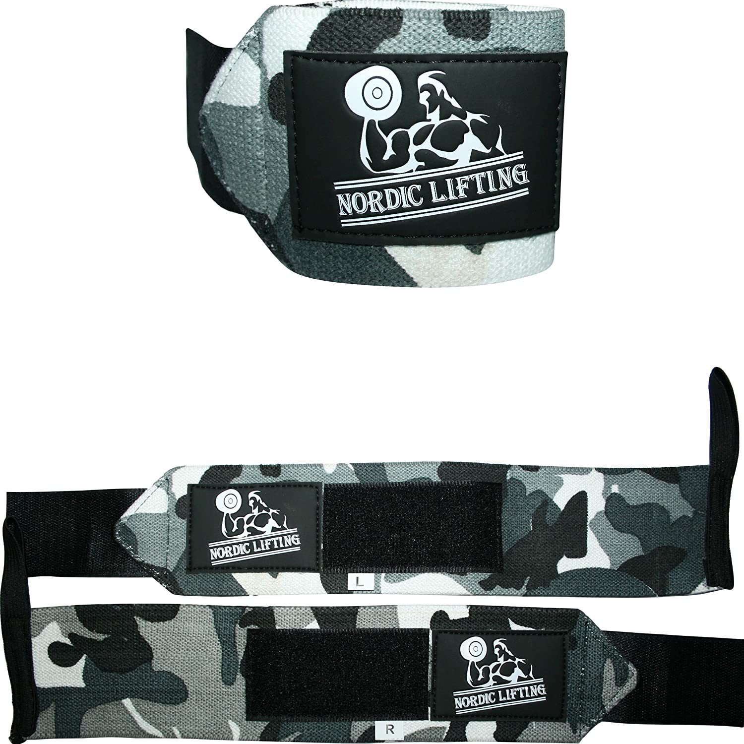 Wrist Wraps (1 Pair/2 Wraps) for Weightlifting/Cross Training/Powerlifting/Bodybuilding - for Women & Men - Premium Quality Equipment for The Absolutely Best Hand Strength & Support - 1 Year Warranty