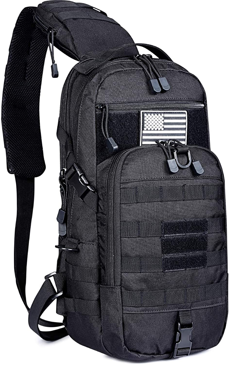G4Free EDC Bag Tactical Sling Bag Fishing Tackle Molle Chest Shoulder Pack Rectangular Outdoor Daypack