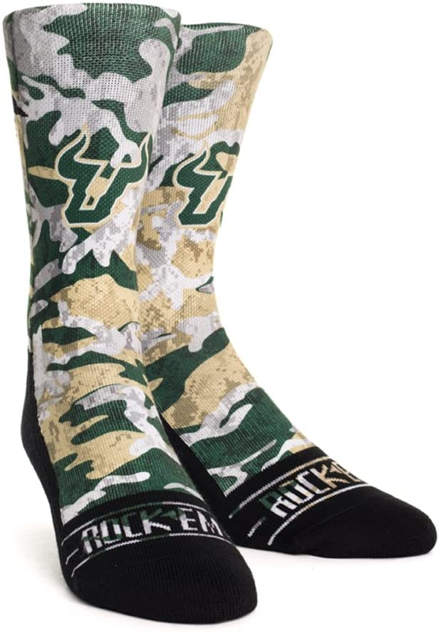 NCAA South Florida Bulls Custom Athletic Crew Socks
