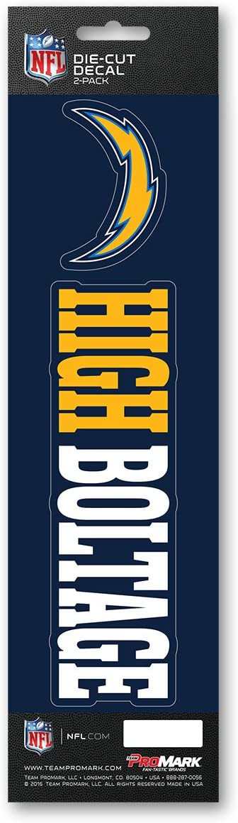 """Promark NFL - Los Angeles Chargers Team Slogan Decal 3"""" x 12"""""""