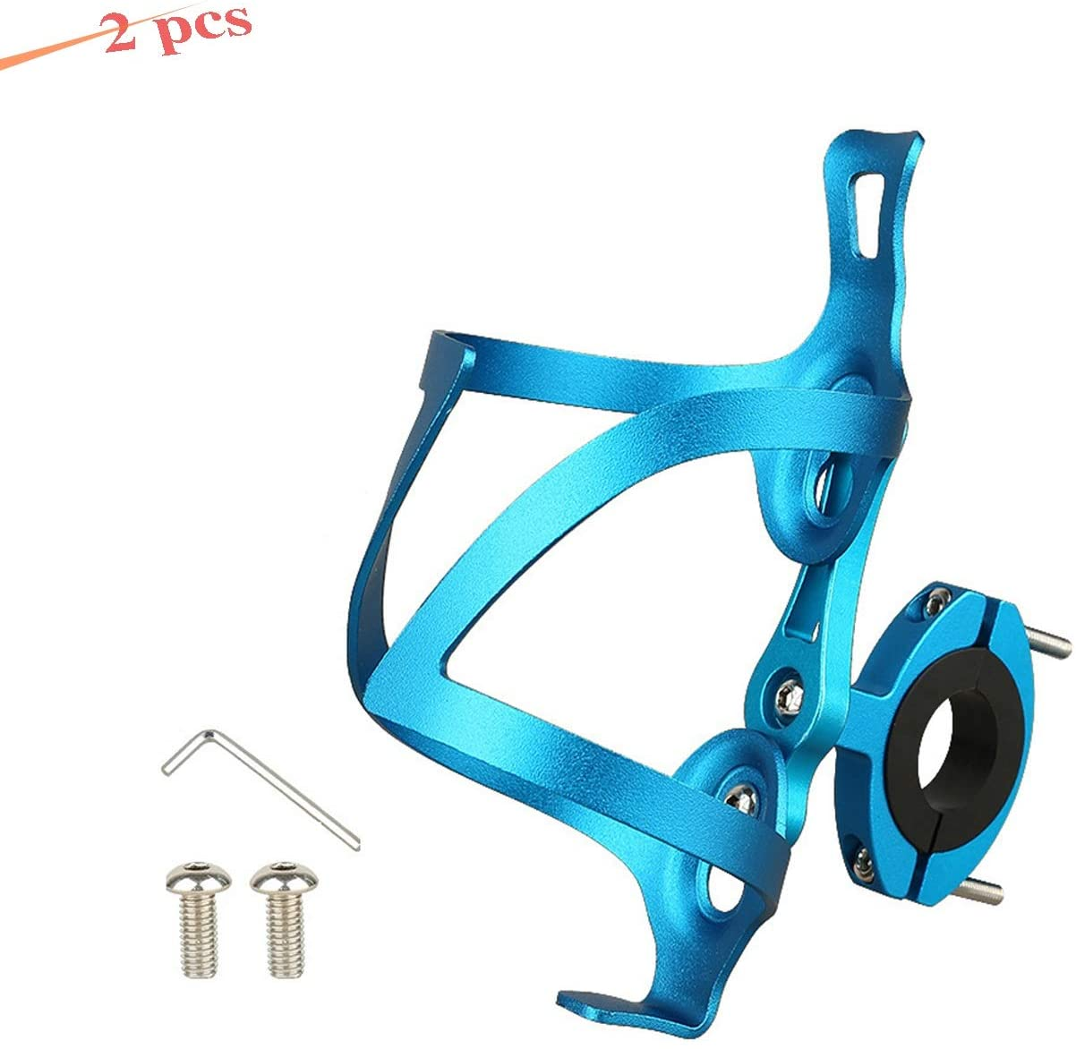 LOOZY Water Bottle Cages Lightweight Easy to Install,Secure Retention Bicycle Water Bottle Holder Lightweight Strong Aluminium Alloy for MTB Bike Stroller Motorcycle