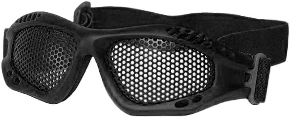 Mil-Tec Tactical Airsoft Goggles Anti-Fog Steel Metal Grid Lens (Black)