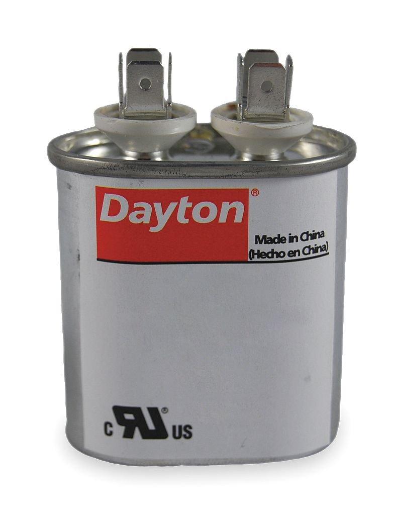 Motor Run Capacitor, 5 MFD, 2-3/4 In. H