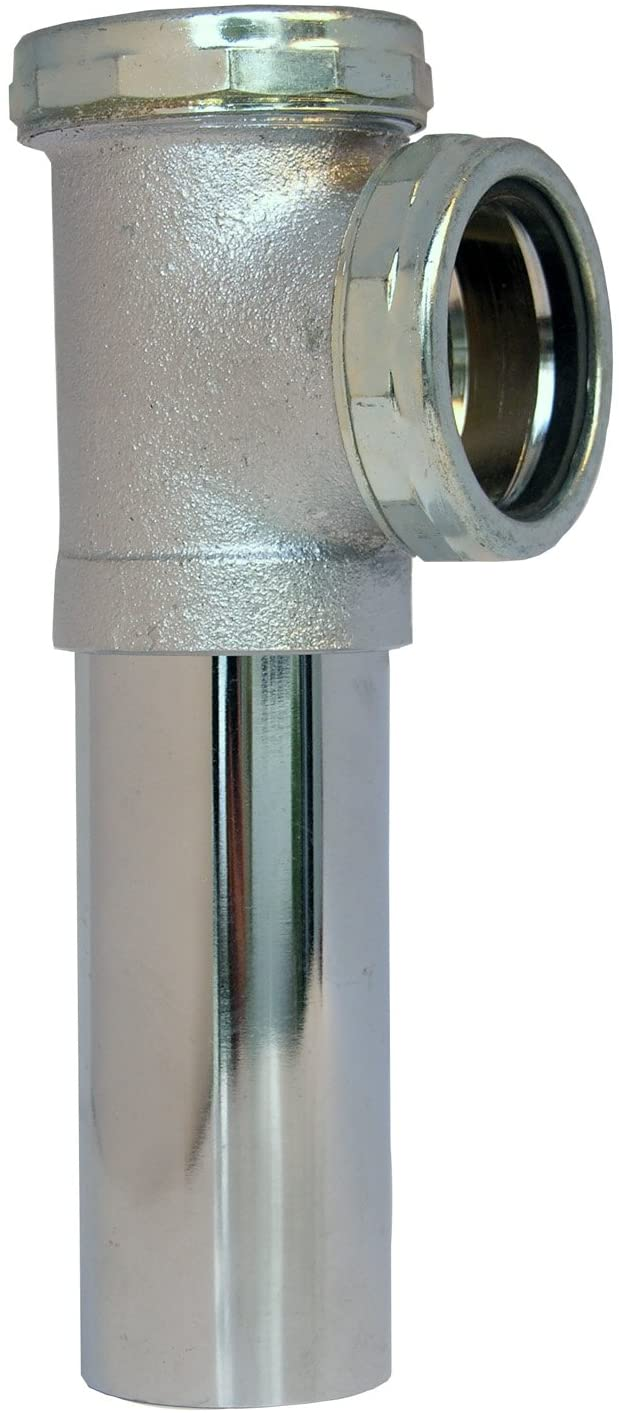 LASCO 03-4051 22-Gauge No Baffle Slip Joint Connection End Outlet Waste Tee, 1 1/2-Inch, Chrome Plated Brass