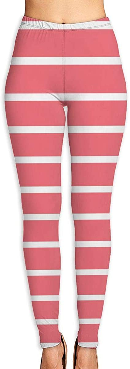 AUISS Yoga Pants for Women Girl Leggings Pink Stripes Running Workout Fitness Long Trousers Training Gym