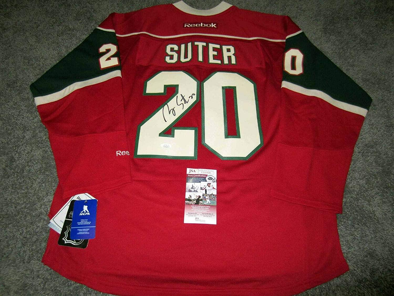 Ryan Suter Autographed Jersey - w COA L - JSA Certified - Autographed NHL Jerseys