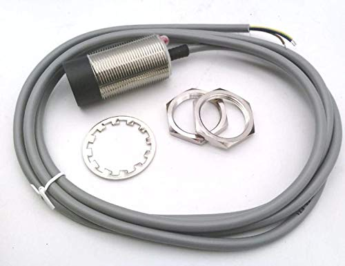 RADWELL VERIFIED SUBSTITUTE NBN15-30GM60-WS-SUB 15MM Range, Replacement of PEPPERL & Fuchs NBN15-30GM60-WS, Cylindrical, Chrome Plated Brass, UNSHIELDED Construction, 30MM Threaded Body, Proximity