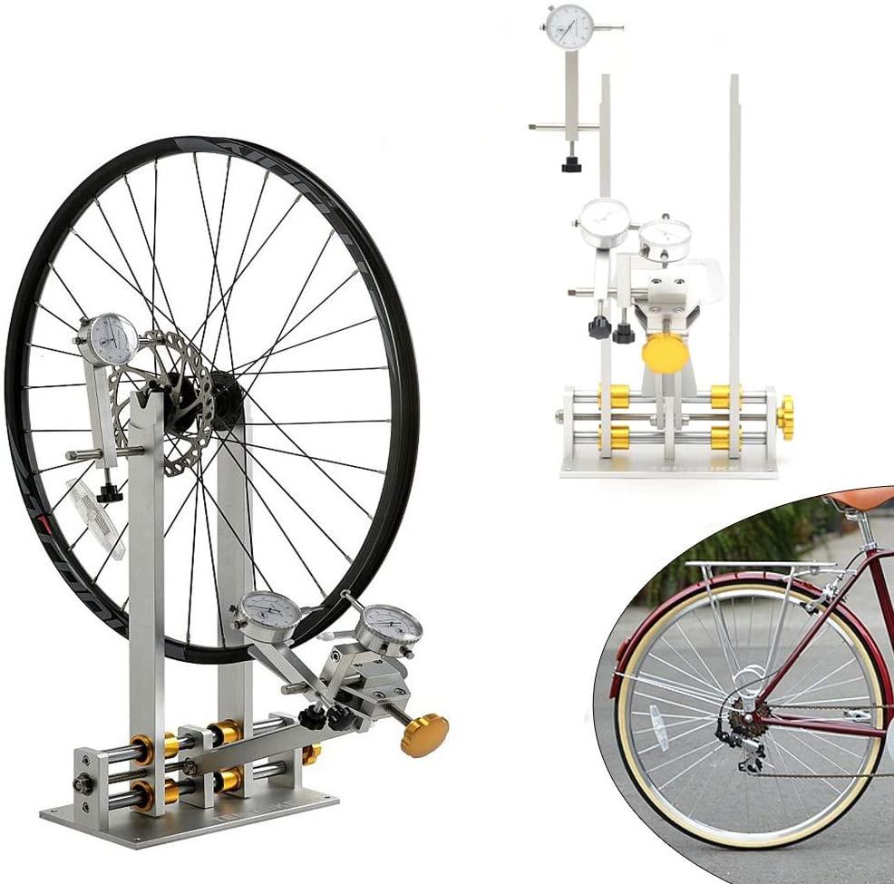 WANLECY Professional Wheel Truing Stand Bike Wheel Repair Truing Bearing Stand Platform Set Up Mechanic Maintenance Tool Accept Wheels 10