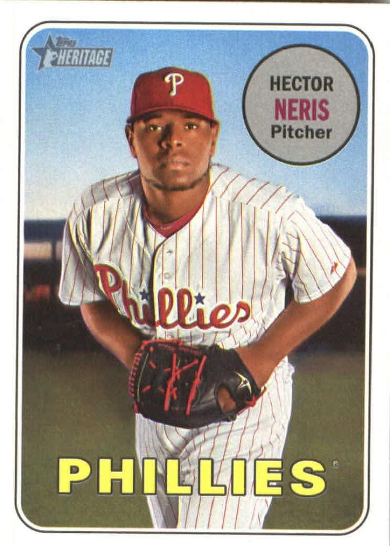 2018 Topps Heritage #184 Hector Neris Philadelphia Phillies Baseball Card